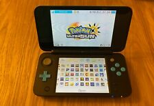 Blue 2ds XL with installed games