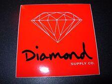 "DIAMOND SUPPLY CO 3"" Red Black Rock Skate Sticker Logo skateboards helmets decal"