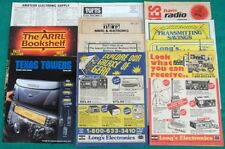 Rare Vintage Lot Of CB Ham Radio Catalogs Long's Tufts Texas Towers ARRL Flyer