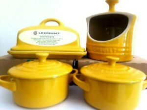 Le Creuset Kitchen Classic 4xUtensils Yellow New