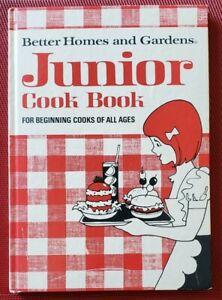 Vintage 1975 Better Homes & Gardens JUNIOR COOK BOOK Cookbook For All Ages HB
