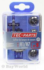 Lampenset 8tlg. H1/H7 12V Bremslicht 21W 5W Sicherung 10A 15A TEC-Parts 12805