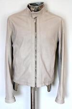 DIRK BIKKEMBERGS in pelle giacca grigio EU48 MEDIO/GRANDE RRP £ 870 Cappotto