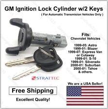 New GM Chevy Ignition Lock Cylinder Key Switch Tumbler with 2 Chevy Logo Keys