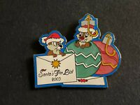 WDW Santa's Pin List - Cast Exclusive Chip and Dale Pin NICE LE Disney Pin 26982