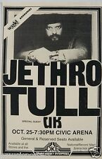 "JETHRO TULL 1979 ""STORMWATCH TOUR"" PITTSBURGH CONCERT POSTER - Ian Anderson"