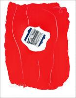 Robert MOTHERWELL 1973 Tricolor XXe Siecle Mourlot Lithograph 14-1/2 x 10-1/2