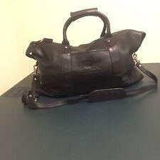 """Cartoon Network Leather Duffle Weekender Travel Bag Black 21"""" Black"""