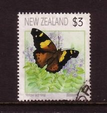 NEW ZEALAND....  1991  $3 butterfly used