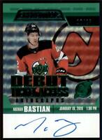 2019-20 Credentials Debut Ticket Access Auto Green  RTAANB Nathan Bastian RC /25