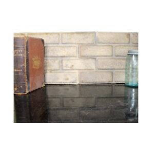 Stamped Pressed Tin Brick Shaped Wall Ceiling Panels Pair Sheets Antique Style