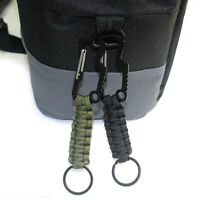 1pc Carabiner EDC Tool Rope Keychain Outdoor Camping Survival Kit Parachute _eo