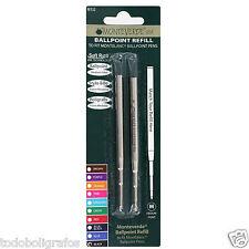 2 x Mont Blanc Compatible Ballpoint Pen  Refills ink black m.p.   Monteverde