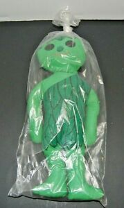 VINTAGE 60s JOLLY GREEN GIANT  Rag Doll Stuffed Plush in package not sealed
