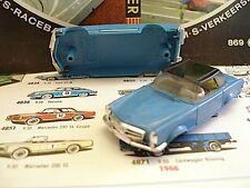 1960s Foreign Faller Mercedes 230SL Slot Car Body BL/Bk