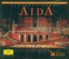 VERDI AIDA 3-CD LETTORE DIGEST NUOVO & CONF. ORIGINALE (E1401)