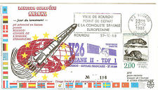 KOUROU VOL ARIANE 2  V 26 LANCEMENT 27. 10. 1988