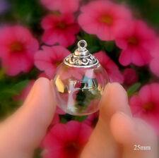 Glass Balls w/ WAVE DESIGN small mini vials pendants bottles waves ornaments