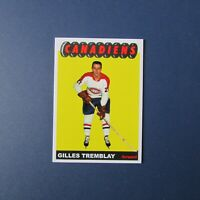 GILLES TREMBLAY  Montreal Canadiens CUSTOM MADE style 1965-66 hockey card 65-66