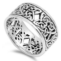 NEW Celtic Knot Eternity Fashion Ring .925 Sterling Silver Band Sizes 7-13