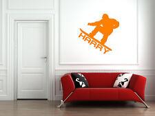 Calcomanía de snowboard, deportes de pared calcomanías, Personalizado la etiqueta de la pared, citas Regalo N23