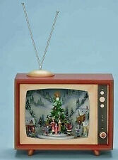 RETRO TV W/ CHRISTMAS TREE & CAROLERS - LIGHTED, MUSICAL & ANIMATED DECORATION