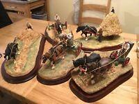 Border Fine Arts,Horse,Farming,5 Piece,Posthorn Golden collection,350 L/Edition