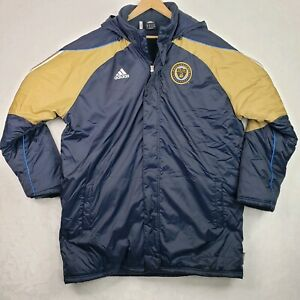 Adidas ClimaWarm MLS Philadelphia Union Soccer Winter Sideline Coat Jacket 2XL