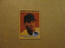 United League Baseball Fort Worth Cats Vintage Defunct 2003 Pocket Schedule