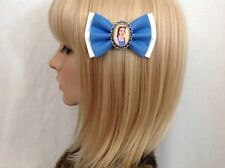 Beauty and the beast Belle hair bow clip rockabilly pin up girl Disney blue