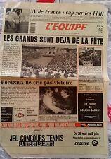 L'Equipe Journal 25/5/1987; XV de France/ Roland-Garros/ Platini/ Bernard Vallet