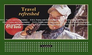 Billboard for Lionel Holder Coke Travel Refreshed Train 1947