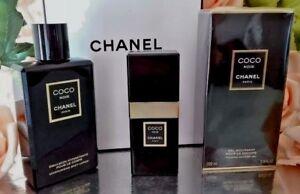 ❤️LOT CHANEL COCO NOIR EDP 1.7 oz 50ml+body lotion 6.8 oz+shower gel 6.8 oz