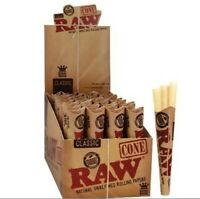 3 RAW Classic Pre-Rolled King Size Cones- Authentic guaranteed- Ships free AU