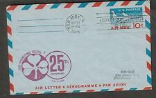 1961 first flight aerogramme cover Irish Airlines New York AMF to Dublin