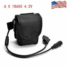 USB DC 12000mAh 6X18650 Rechargeable Battery Pack For Bicycle Lamp Bike Torch US