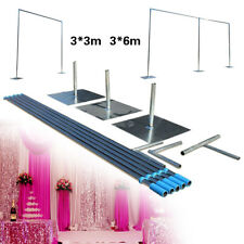 Wedding Party Backdrop Stand Pipe Kit 10x10ft/10x20ft Curtain Frame Telescopic