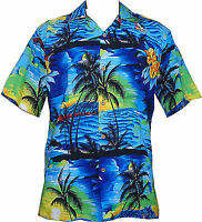 Hawaiian Shirt Mens Allover Print Beach Camp Party Aloha Beach Holiday Camp