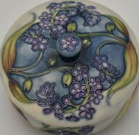 Moorcroft Pottery Floral Lidded Pot By Sian Leeper - Limited Edition Of 250