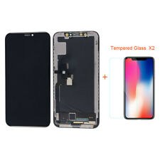 Black LCD Screen Display Touch Screen Digitizer Assembly For iPhone X + 2 Films