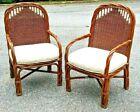 Vintage Bentwood Rattan   Bamboo Armchairs   Rare   Unique Tiki Originals