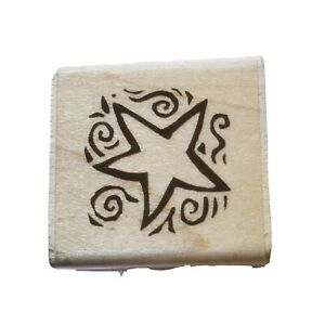 Rubber Stampede 2002 Star A19348 Wood Mounted Rubber Stamp