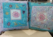 Set of 2  embroidery cushion cover 20x20  suit all decor colors red blue purple