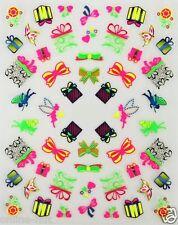 One Stroke Sticker Neon, Schleife, Fee, Geschenk, Tattoo, Aufkleber  Nr.1705