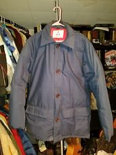 Vintage Men's Size Medium Gerry Down Basic Winter Jacket Blue With Red Lining M