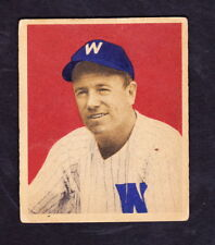 1949 BOWMAN #74 TOM McBRIDE WASHINGTON SENATORS ROOKIE
