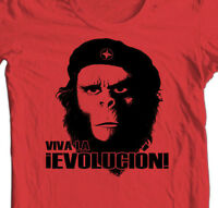 Planet of the Apes Evolucion T -shirt retro vintage 70s movie Che original tee