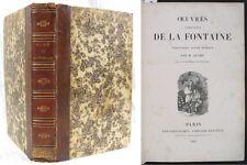 Œuvres Complètes de La Fontaine en 1 volume/ Delongchamps 1826 / Ouvrage rare !