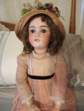 "Antique German Bisque 30"" Walkure Doll w Original Dress in Original Box - Rare"