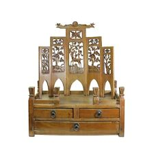 Chinese Vintage Carving Display Shrine Chest Stand cs5001